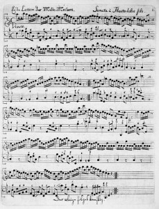 Telemann F major Sonata - Vivace - original scan